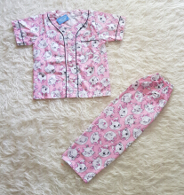 Cottongrass Motif Cat Anak Pink