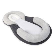 [COZIME] Baby Anti-rollover Mattress Pillow Toddler Sleep Positioning Pad Cotton Pillow Gray