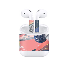 Blitzwolf LEORY Protective Earbuds + Case Stickers for Apple for AirPods Removable Adhesive Decorative Decal Wrap Stickers Gray