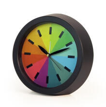 JDWonderfulHouse JDwonderfulhouse Creative Silence Rainbow Colorful Alarm Desk Modern Office Gift Bedroom Mute Fashion Hanging Clock