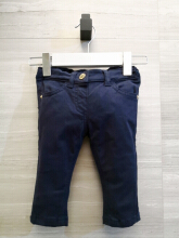 Moschino Baby Jeans with Heart Pocket MDP01T EZ13U 40016 3-6months Dark Blue
