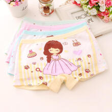 Farfi Baby Girl Kids Cotton Soft Cartoon Princess Shorts Breathable Underwear Panties