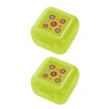 Crocodile Creek Snack Keeper set of 2 - Green Flower