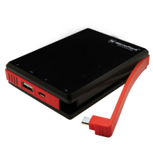 MicroPack Power Bank 10000 mAh Li-Polymer with Cable P10000 Black Red