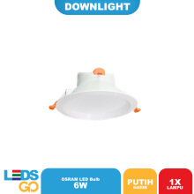 Lampu LED Downlight 6 Watt Putih
