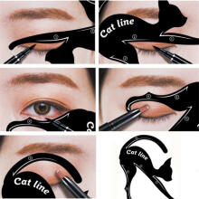 Farfi 1Pair Cat Eyeliner Guides Easy Quick Makeup Tool Eye Liner Stencils Templates as the pictures