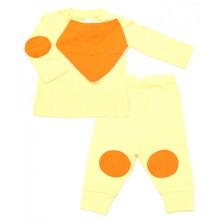 Cribcot TPS Long Pumpkin Yellow Orange Size 9-12M