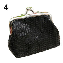 Farfi Fashion Women Sequins Buckle Mini Change Coin Purse Clutch Handy Wallet Bag