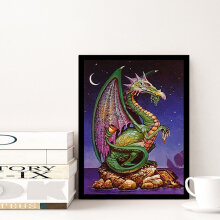 [COZIME] Dinosaur Pattern DIY 5D Diamond Painting Cross Stitch for Living Room D200 multicolor Dinosaur-2