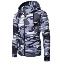 [kingstore]Men Top Shirt Long Sleeve Hooded Neck Camouflage Elastic Warm Pullover Light Grey Camouflage Light Grey Camouflage 3XL