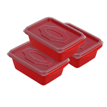 VICTORYHOME Food Box 500ml set of 3 - Red