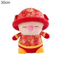 Farfi 2019 New Year Cute China Dress Mascot Pig Tang Suit Toy Party Decoration Gift