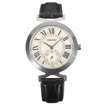 Zanzea CHENXI Unisex Business Casual Watches for Women Leather Mens Watches Black