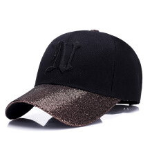 SiYing fashion simple sequins breathable baseball cap female embroidery duck hat