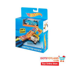 Hot Wheels Racing Action Construction Mayhem with Die Cast
