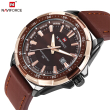 NAVIFORCE  9056 Brand Fashion Original Men's Watch Quartz Watch Men Waterproof Wrist watch Military Clock Rose Gold