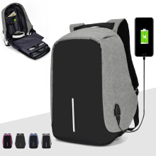 Wei's select fashion men's wear-resistant waterproof computer backpack hot tide comes with USB computer backpack B-ZWX18-8