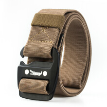 AWMEINIU Original imported casual men's stretch woven alloy buckle belt