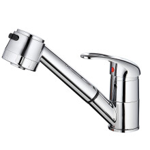 Aosen Hot and Cold Kitchen Pull-Out Faucet White Size S