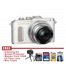Olympus PEN E-PL8 Kit 14-42mm - Putih - FREE Accessories