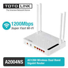 TOTOLINK - Router Wireless Dual Band 1.2Gbps with USB Port - A2004NS