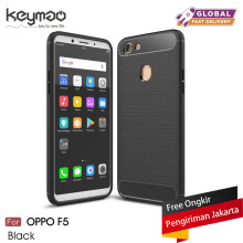 Keymao OPPO F5 case Soft TPU Silicon Full Protect Cover Case-Black