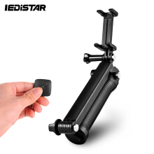 LDX - 350 Bluetooth 3 in 1 Selfie Stick Tripod with Wireless Remote for iPhone / Samsung / GoPro Black