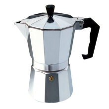 [OUTAD] Aluminium Moka Pot Octangle Coffee Maker For Mocha Coffee Italian Coffee Silver   3CUP