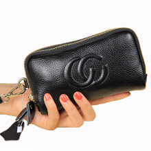 Jantens New fashion ladies handbags storage box wallet girls leather wallet Black