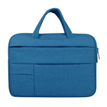 COZIME Portable Laptop Bag Multifunctional Computer Sleeve Solid Notebook Light Blue 15.6inches