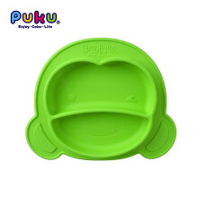 [OUTAD] Baby Kids Non-Skid Silicone Feeding Bowl Mat Tool Tabletop Anti-Slip Plates Green