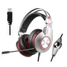 Vinmori K5 Best Gaming Headphones with Microphone USB 7.1 Sound Heavy Bass Game Headset for PC Gamer PS4 Xbox one Phone Silver