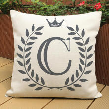 Farfi Cartoon English Letters Print Sofa Pillow Cushion Pillowcase Home Decoration