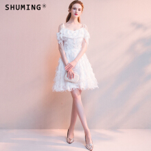 SHUMING- Dress Wedding dress Evening Dresses White XS