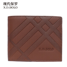 XDBOLO New leather wallet business casual multi-card short leather men's wallet