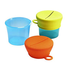 BOON SNUG Silicone Snack Lid With Cup - Blue