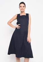 Shop at Banana Poldoti Dress Navy Blue All Size
