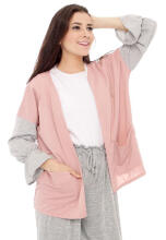 Yoenik Apparel Two Tone Shasha Outer Dusty M13446 R37S3 Pink All Size