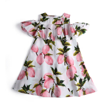 Girl's skirt lemon print dress