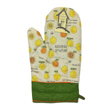 ARNOLD CARDEN Oven Mitts Fruits Lemon Right Side - Green 17x25cm
