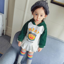 Fashionable Baby Girls Warm Sweater Printed Comfortable Clothes S