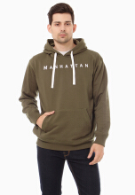 COTTONOLOGY Men's Hoodie Manhattan Olive