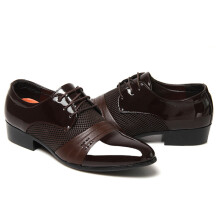 SiYing Wild business dress brown men's leather shoes