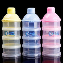 Farfi Portable Baby Feeding Milk Powder Food Bottle Container 4 Cells Grid Box as the pictures