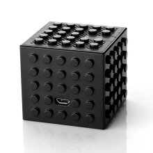 Black Mini Portable Wirreless Bluetooth 4.0 3.7V 1000 mah Block Shaped Music Speaker with Rechargable Battery