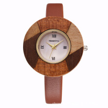 Fashion large dial Small belt Solid wood original environmental protection craft personality female watch