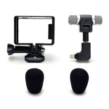 [COZIME] Housing Frame Case + External Microphone + Adapter Kit for GoPro Hero 4/3+/3 Black