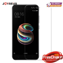 JOYSEUS 3D Full Cover Tempered Glass For Xiaomi Mi A1 TRANSPARENT glass Screen Protector Glass Full Cover Curved Edge 1 Pack-Transparan