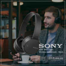 Sony WH-CH500 / WH CH500 / CH 500 Wireless Headphones - Black