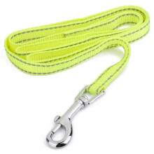 PKG Reflective Lining Pet Dog Lead Leash with Clip (1.5cm, Yellow)